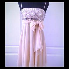 "Spotted while shopping on Poshmark: ""Nude Mirror Pattern dress""! #poshmark #fashion #shopping #style #BCBGMaxAzria #Dresses & Skirts"