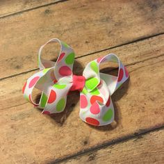 Neon dot boutique hair bow baby girl #bowtifulblessings