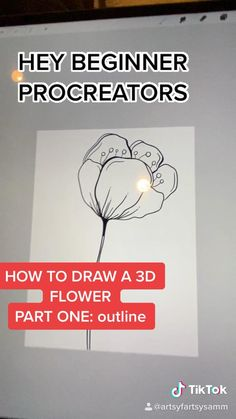 Digital Painting Tutorials, Digital Art Tutorial, Art Tutorials, Digital Art Beginner, Flower Video, Ipad Art, Art Drawings Sketches Simple, Lettering, Digital Illustration