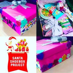 So cute! #santashoebox Some Ideas, Shoe Box, Giving, First Time, Blessed, Santa, Spirit, Thoughts, Handmade Gifts