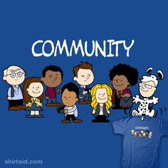 'Community' in the style of Peanuts. Genius.