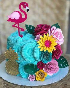 23 Clever DIY Christmas Decoration Ideas By Crafty Panda Flamingo Cake, Flamingo Birthday, Luau Birthday, Girl Birthday, Birthday Parties, Aloha Party, Luau Party, Flamenco Party, Tropical Party