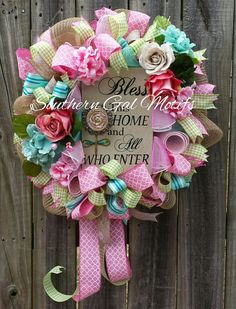 Spring wreath Everyday wreath Summer mesh by SouthernGalMotifs