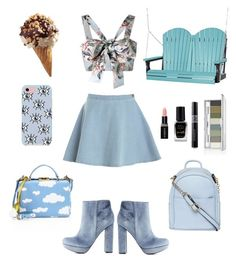 """""""Summer blues"""" by kittenkouture ❤ liked on Polyvore featuring Mark Cross, Rebecca Minkoff, Zimmermann, DutchCrafters, Dorothy Perkins, Clinique, Charlotte Russe, Smashbox, Christian Dior and Barry M"""