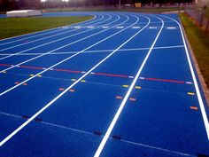Athletics tracks and running tracks can both be installed in a choice of different surface types and are suitable for use with a number of sporting events.