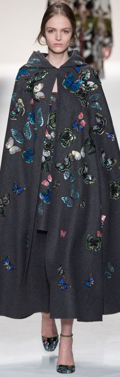 Beautiful butterflies / karen cox. ...Why, yes, I would love a butterfly cloak very much, Thank you! Valentino | The House of Beccaria~