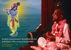 Krishna Consciousness  http://harekrishnaquotes.com/srila-prabhupada-on-krishna-consciousness-2/