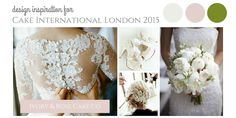 Cake International London 2015 and Ivory & Rose Cake Company. I love to design wedding cakes. I love all things pretty and wedding-y. So I'm combining the two and entering Cake International 2015