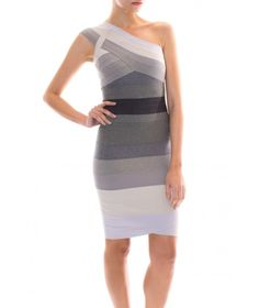 Ombre Grey Dress