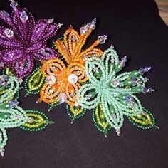 tembleques de colores panameño - tapa moño