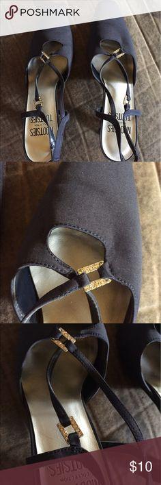 Mootsie tootsie ladies heels Adorable ladies heels by mootsie tootsie with rhinestone accents at the toe and ankle, never worn!! mootsie tootsie  Shoes Heels
