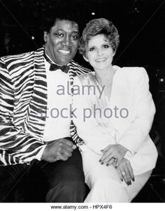 Clarence Clemons & Brenda Lee pictured at Cinemax TV special 'Legendary Ladies of Rock & Roll' at - Stock Image