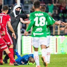 Swedish match abandoned after goalkeeper attacked by pitch invader