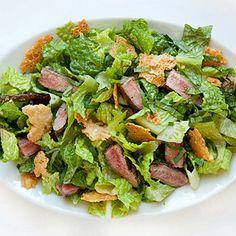 Our Test Kitchen's healthful Caesar salad is worth hailing.