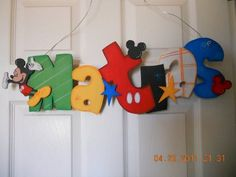 . Painted Letters, Wood Letters, Mickey Mouse Nursery, Scrapbooks, Cute Alphabet, Nursery Letters, Clay Baby, Lettering Design, Painting On Wood