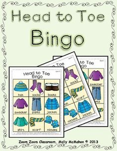 Bundle up . . . winter has begun!  Here is a Bingo game for three and four year olds.  $