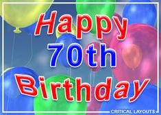 70 birthday | 70th Happy Birthday Graphics