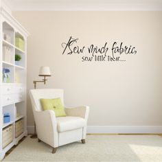 Sewing Room Wall Vinyl  sc 1 st  Pinterest & Sewing Room Decorating Ideas | Pinterest | Room wall decor ...