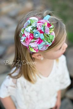 The Locklyn Headband  Fits 0 to 6 Months  Vintage by babyzdesigns, $12.00