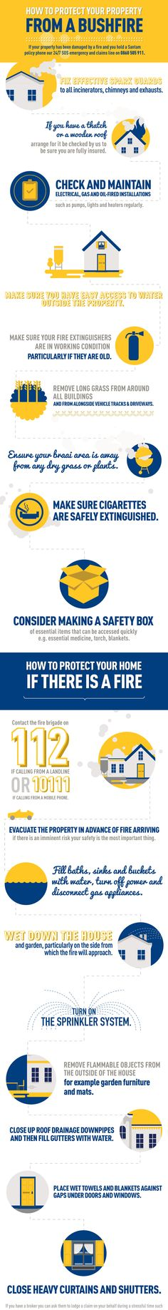 Santam – How to protect your property from a bushfire infographic