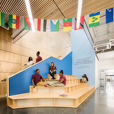 Drawing on the high-density setting of the school's urban site, the Educational…