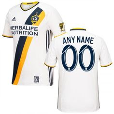 the latest b4f1c e171a FAN SHOP LA Galaxy 2016 17 soccer White MLS Primary Custom Jersey BEST  QUALITY