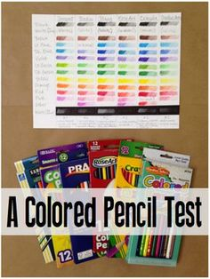 A comparison test of 6 different brands of student grade colored pencils...