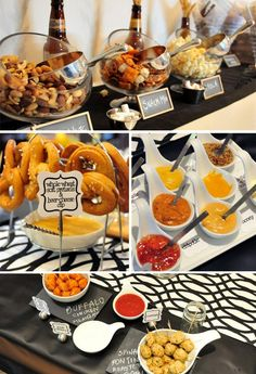 Pretzels and beer party... love this idea for fall, Superbowl, hubby's birthday, happy hour... you name it!