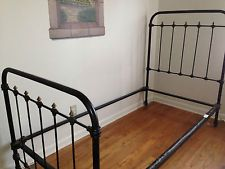 Antique French Wrought Iron Single Bed Frame C 1825