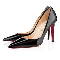 Christian Louboutin - NEW DECOLTISSIMO PATENT 100 mm, Patent leather,  BLACK, Women Shoes