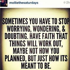 Sometimes you have to stop worrying #quote