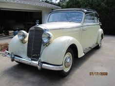 """1950 Mercedes-Benz, 170S  very nice 170S convertible that is restored for 80% !  It has to be finished. But the most expensive, most difficult part has been done.  Biggest choice in REAL Classic Cars in """"the Stolze Collection"""" , with more than 450 in stock.! from a project to perfect .!  http://www.collectioncar.com/detailed.php?ad=55699&category_id=1"""