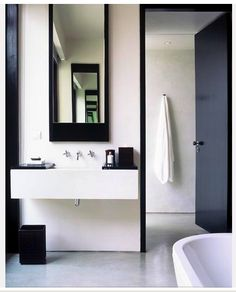 Black and White decor bathroom bathroom storage - love this! nice design modern bathroom interior collections by alinsk. Minimalist Bathroom, Modern Bathroom, Small Bathroom, Masculine Bathroom, Modern Minimalist, Minimalist Design, Industrial Bathroom, Master Bathroom, Bad Inspiration