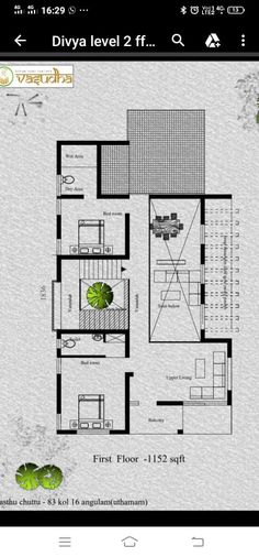 House Floor Design, Modern House Design, House Floor Plans, Kerala Homes, One Storey House, Court Yard, Home Design Plans, Home Pictures, Architecture Plan