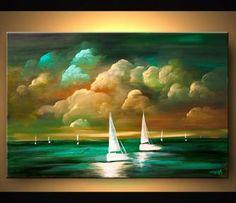 Seascape painting - Dusk