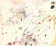 Cy Twombly, Empire of Flora, 1961, Rome. Oil, crayon, and pencil on canvas.