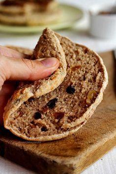 Pão de aveia fácil de frigideira integral fitness