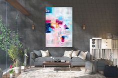 Large Painting on Canvas,Original Painting on Canvas,canvas custom art,master bedroom decor,unique painting art FY0051