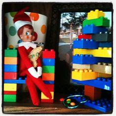 Elf got creative with the kids legos!