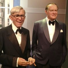 George Burns & Bob Hope's wax figures at Madame Tussaud's in Hollywood
