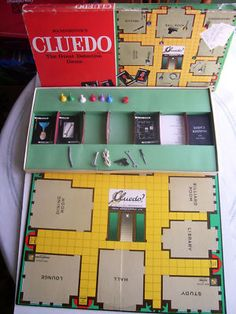 Cluedo. Miss Scarlet in the living room with the candlestick