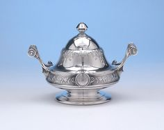 Ball, Black & Co Sterling Silver Covered Butter Dish, c. 1870