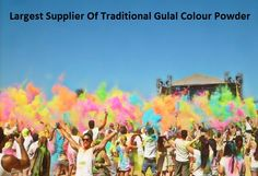 Largest Supplier Of Traditional #GulalColourPowder  Organize your events by using #holigulalpowder that will make incredible experience for you. Place your order now, to buy #colourpowderpackets. #ColourRunPowder for sale!