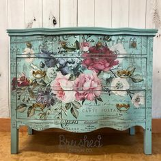 Beautiful floral dresser created using Wise Owl Paint and reDesign with Prima decor transfers. Decor, Funky Furniture, Furniture Makeover, Furniture Decor, Decoupage Furniture, Hand Painted Furniture, Wise Owl Paint, Shabby Chic Furniture, Chic Furniture