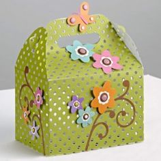 Scrapbook Flowers Container