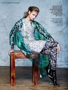 Anna Selezneva for Vogue China Collections by David Bellemere