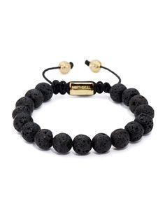 NORTHSKULL - Lavastone + 18kt. Gold Bracelet