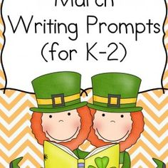 FREE St. Patrick's Day Writing Prompts for K-2