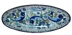 Le Souk Ceramique fish platter, made in Tunisia