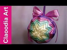 Bombka karczochowa (ribbon bauble) - YouTube
